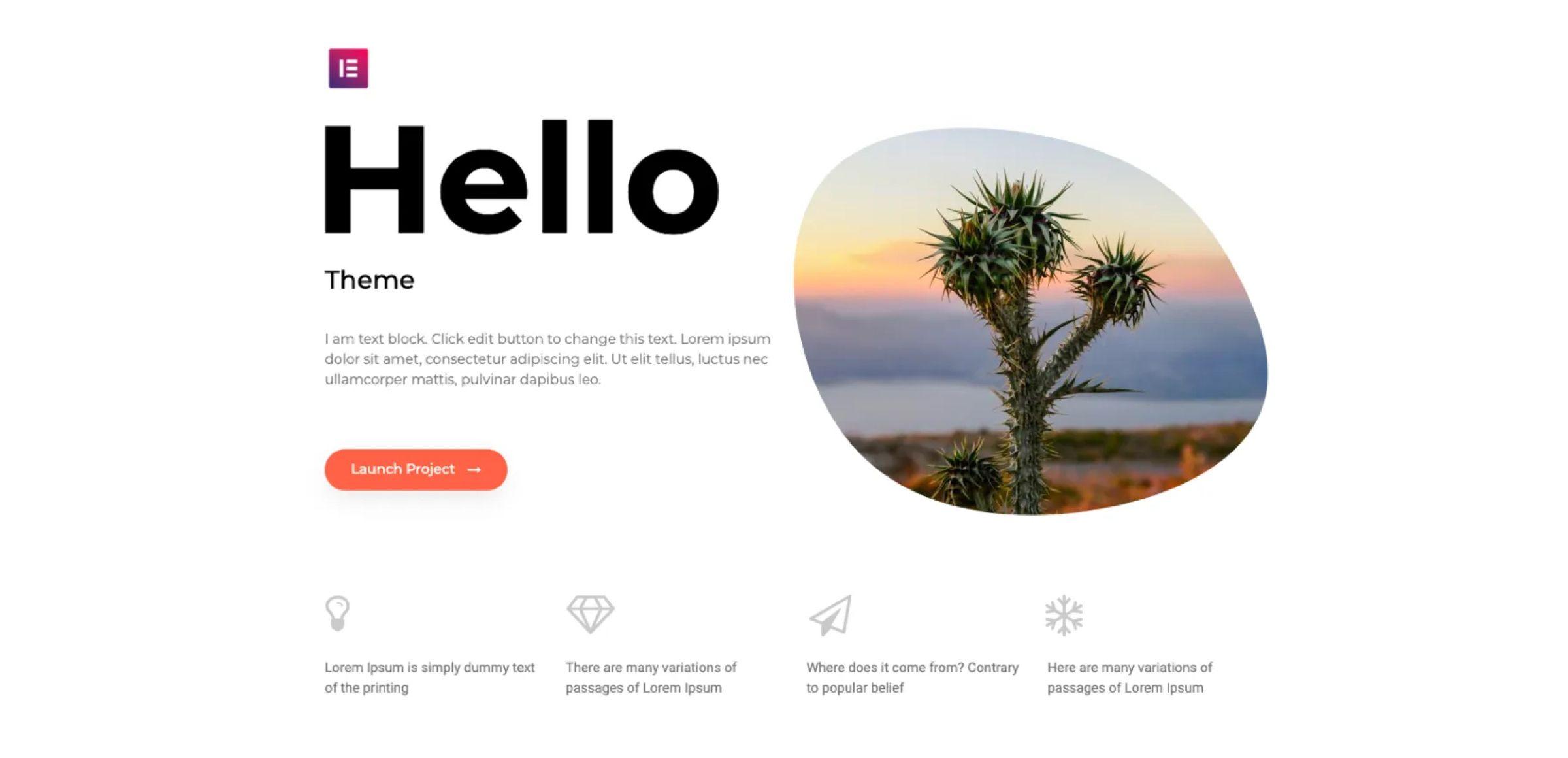 Hello Elementor Free Elementor WordPress Starter Theme
