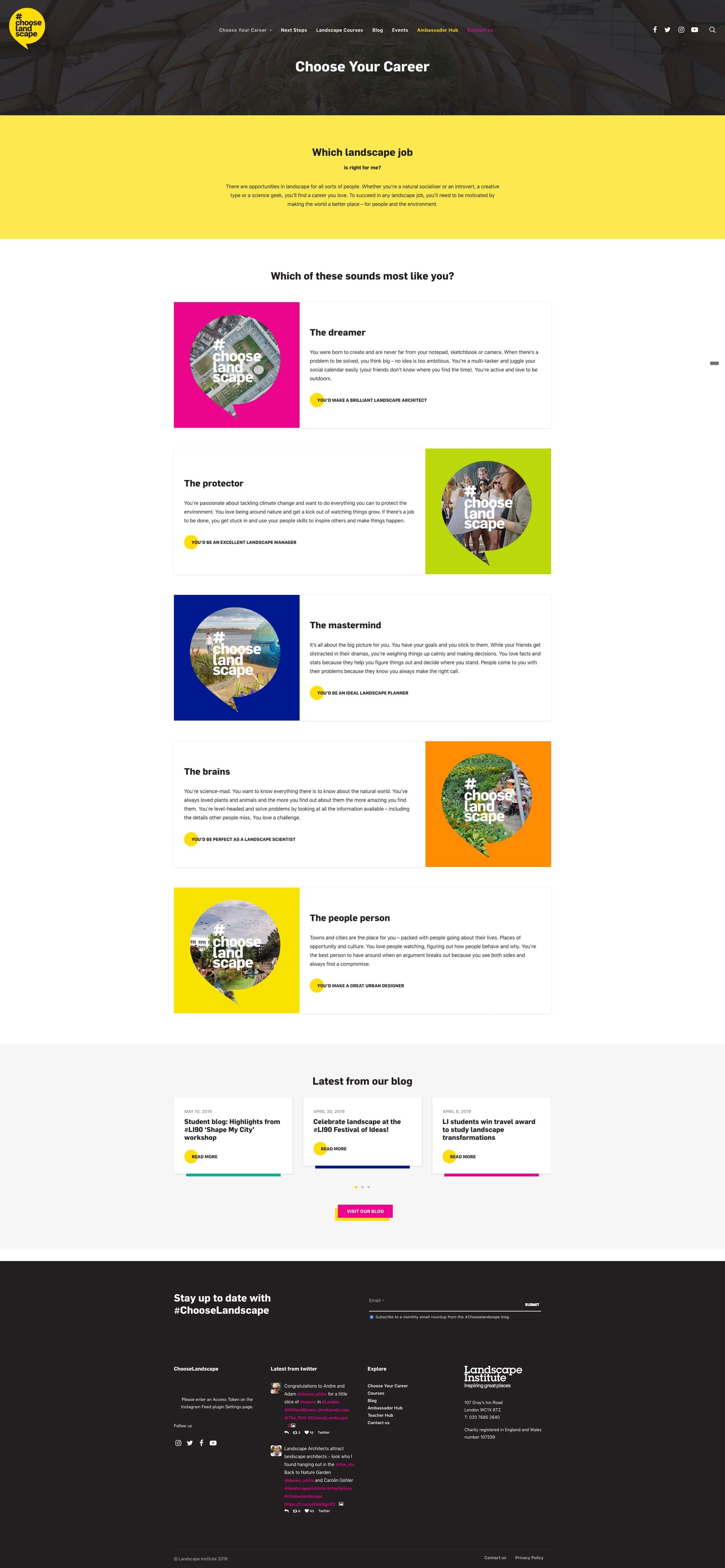 chooselandscape career campaign website case study northwest agency
