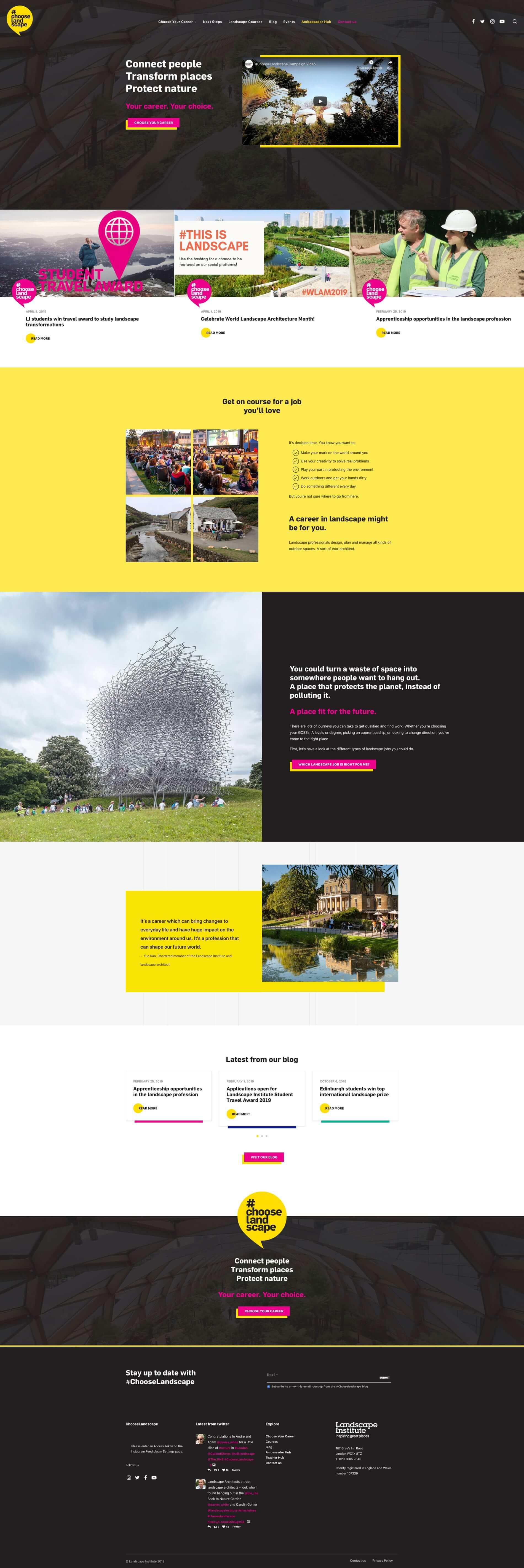 Chooselandscape home page case study