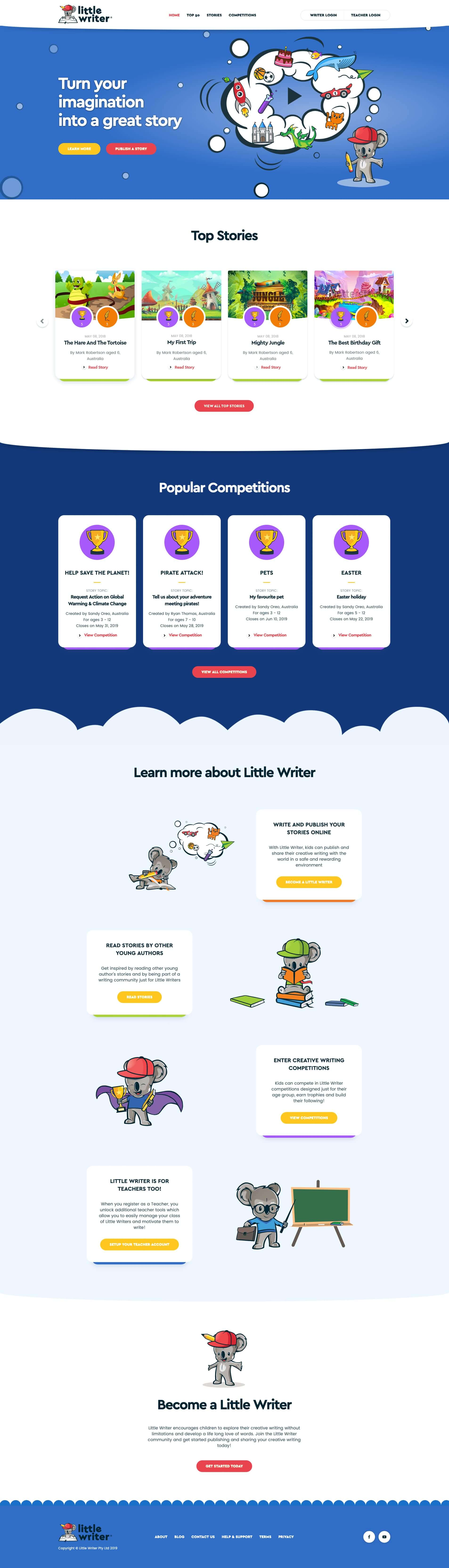 Little writer home page