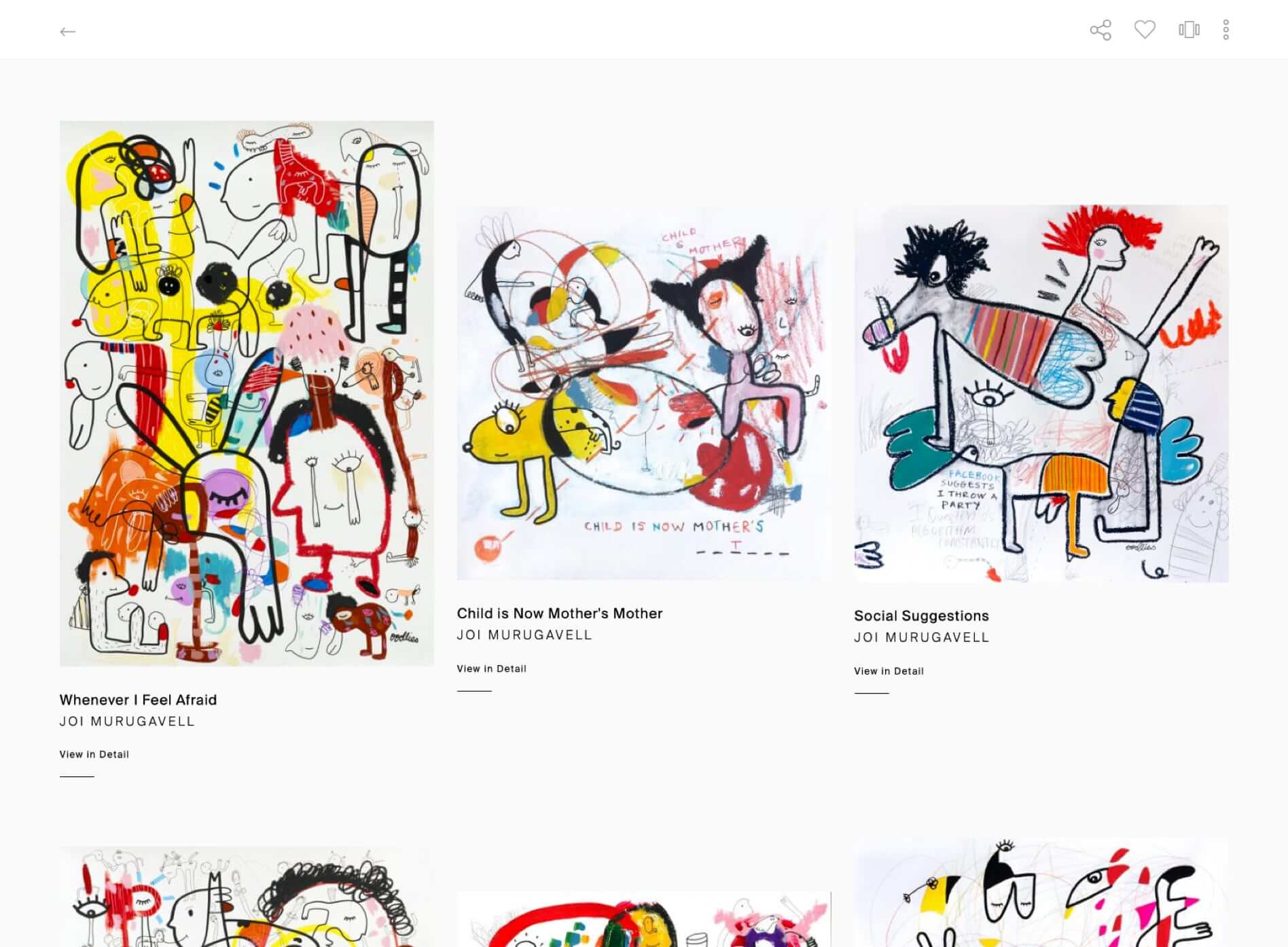 the exhibit responsive e-commerce art website