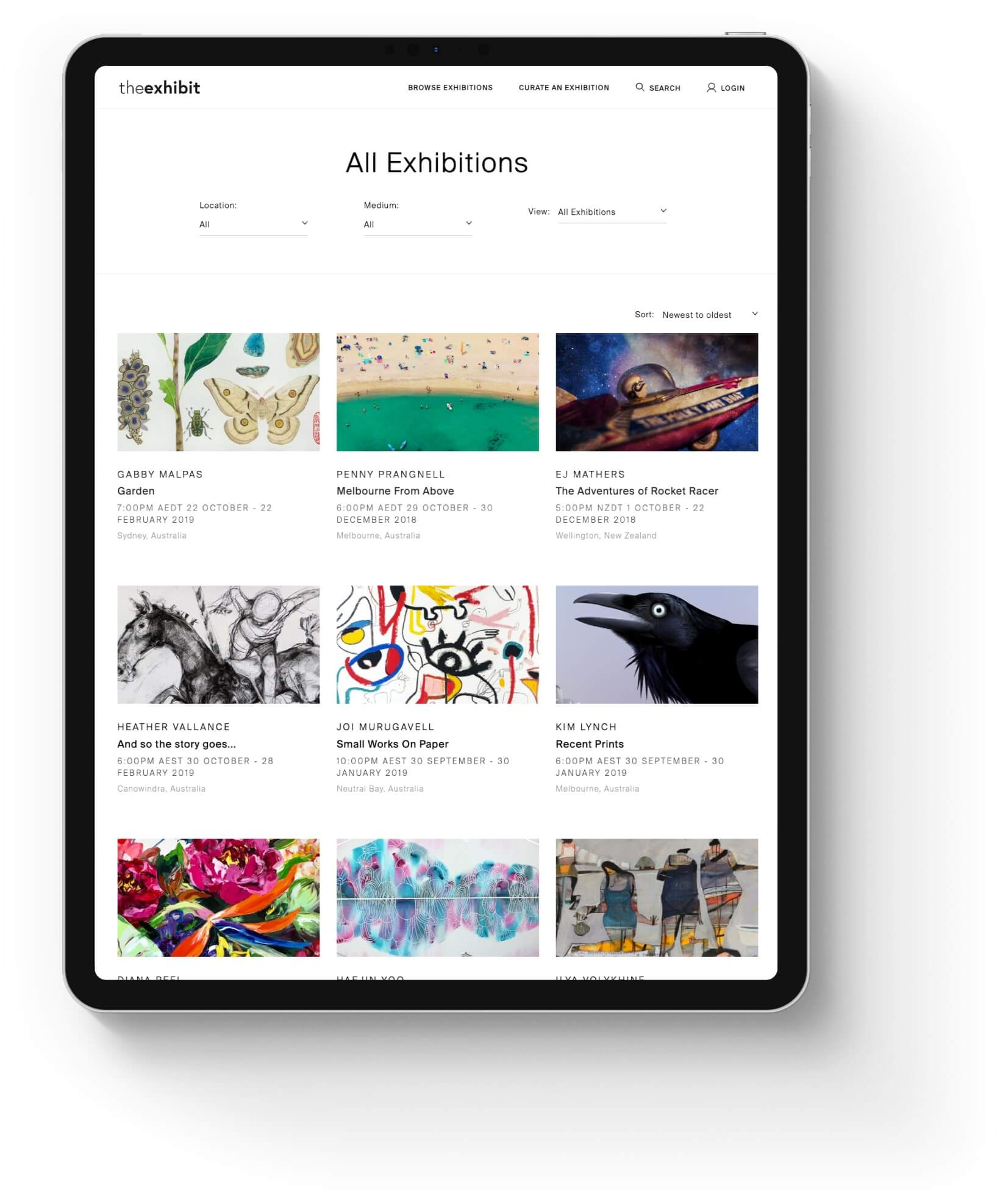 the exhibit responsive e-commerce experience